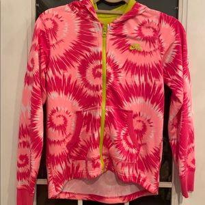 NIKE SB tiedye zipup hoodie with pockets